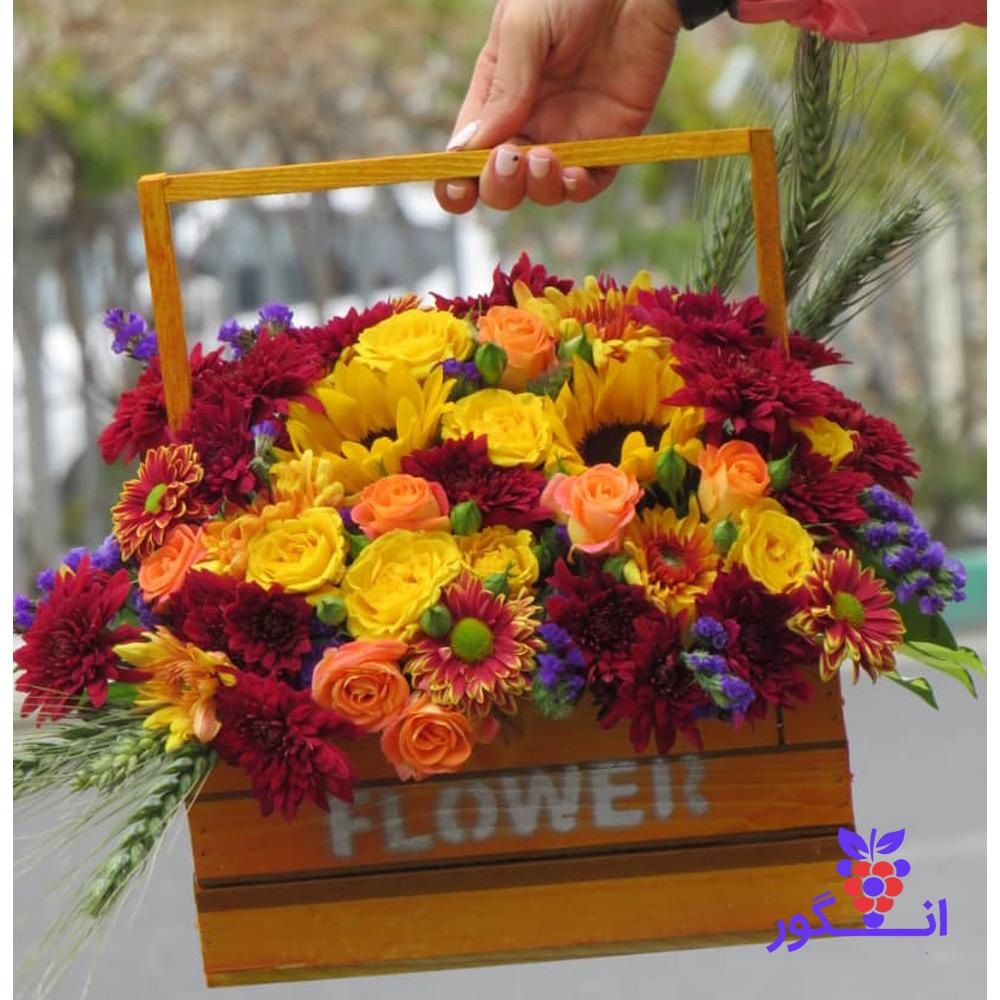 خرید باکس گل تم پاییزی 2785